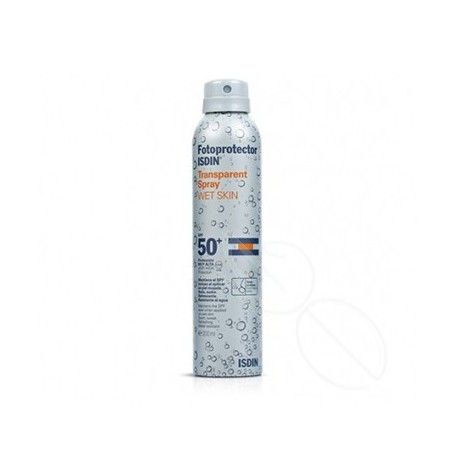 FOTOPROTECTOR ISDIN SPF-50+ SPRAY TRANSPARENTE WET SKIN 200 ML