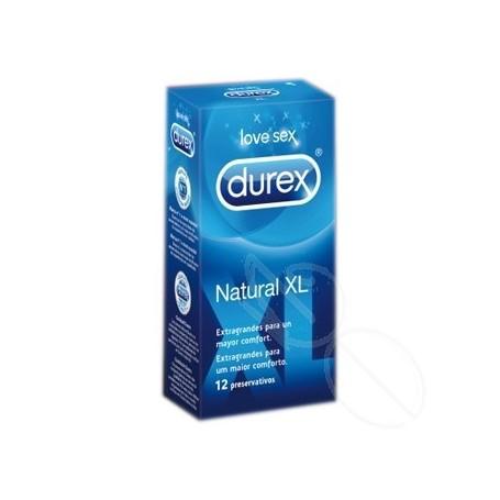 DUREX NATURAL XL PRESERVATIVOS 12 U