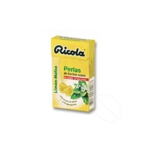 RICOLA PERLAS SIN AZUCAR LIMON 25 G