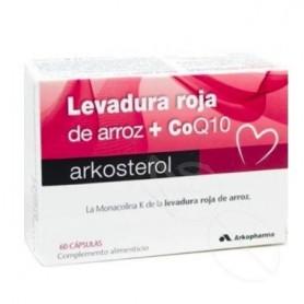 ARKOSTEROL LEVADURA ARROZ ROJO + Q10 60 CAPSULAS