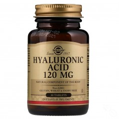 SOLGAR HYALURONIC ACID COMPLEX 120 MG